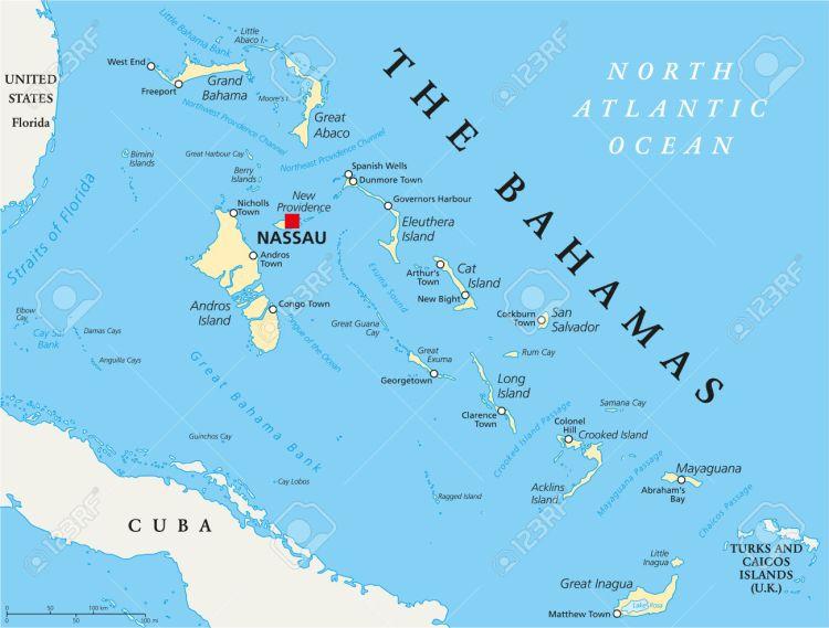 The Bahamas Political Map